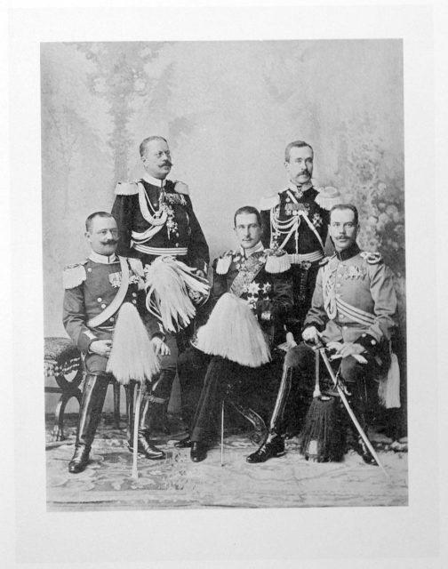 Wurtemberg delegation - Coronation of Emperor Nicholas II and Empress Alexandra Feodorovna, 1896.