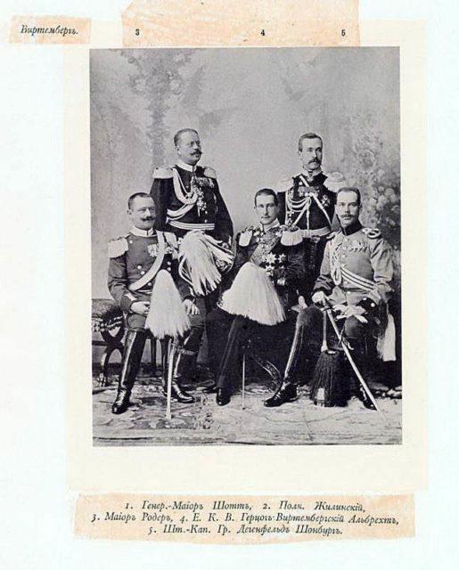 Wurtemberg Delegation on the Coronation of Emperor Nicholas II and Empress Alexandra Feodorovna, 1896.
