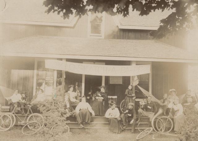 At home, 1897