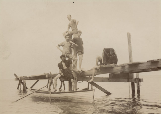 Bathing in Lake Huron, Menesetung Park, July 1897
