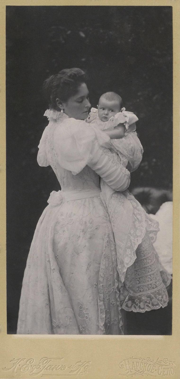 Empress Alexandra Feodorovna with Grand Duchess Tatiana