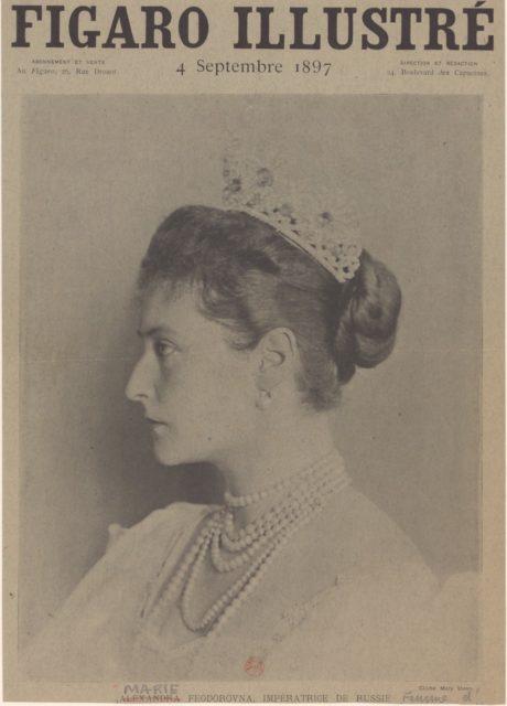 Empress of Russia Alexandra Feodorovna, Figaro 1897