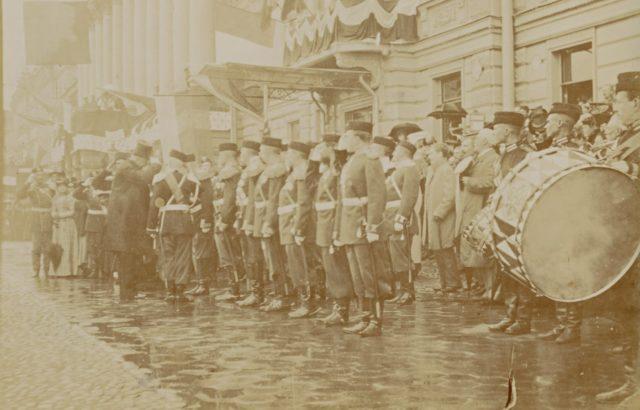French President Felix Faure visits Peterhoff, 1897