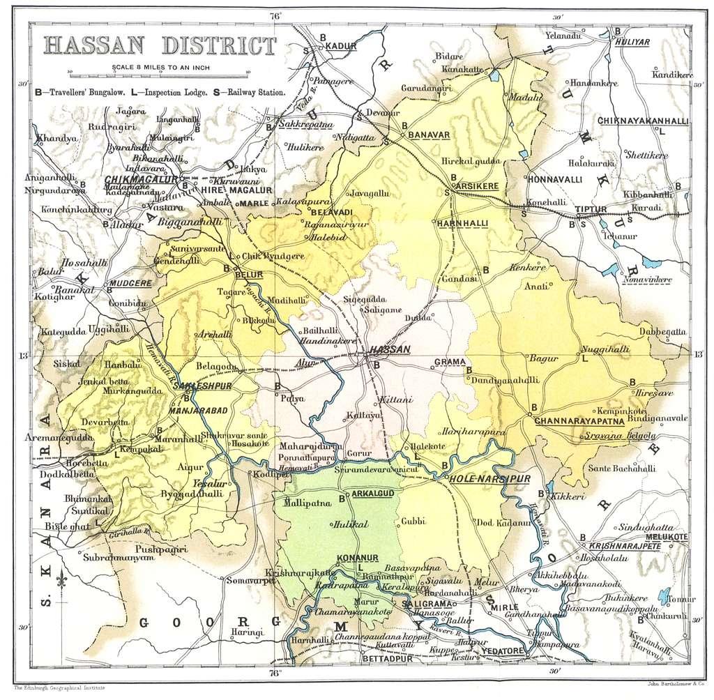 Hassan Gazetteer map 1897