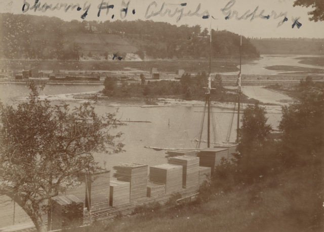 No. 3, Goderich Harbor, looking east from park, 1897