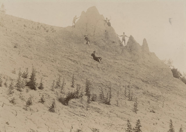 On the bluffs, 1897