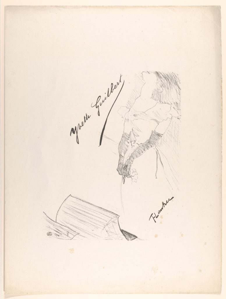 Frontispiece - Yvette Guilbert before the Prompter's Box