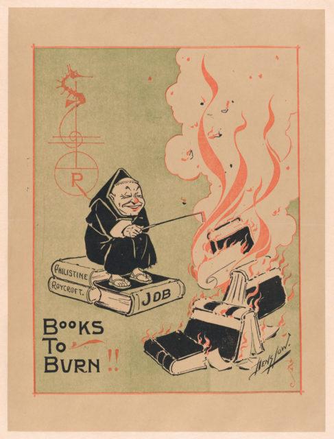 "The Philistine: ""Books to Burn"""
