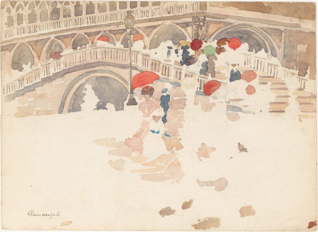 Umbrellas in the Rain, Venice