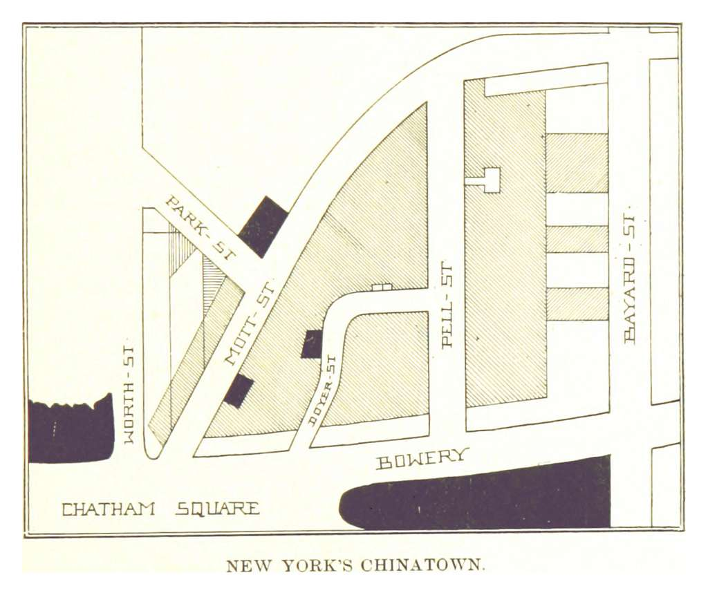 BECK(1898) p021 MAP OF THE CHINA TOWN