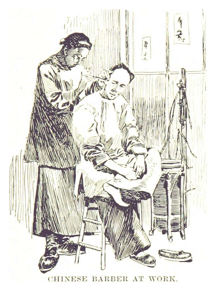 BECK(1898) p097 CHINESE BARBER AT WORK