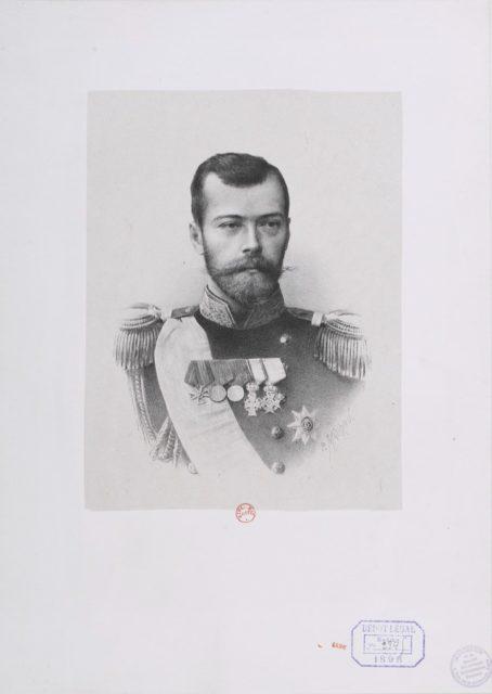 Emperor of Russia Nicolas II portrait, 1898