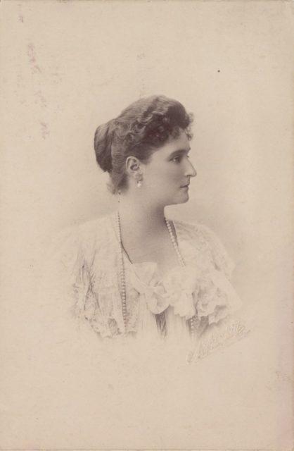 Empress of Russia Alexandra Feodorovna, portrait c. 1900