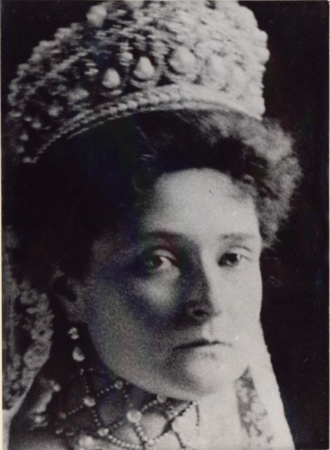 Empress of Russia Alexandra Feodorovna, crowned