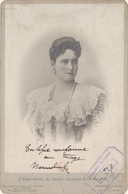 Empress of Russia Alexandra Feodorovna, 1901