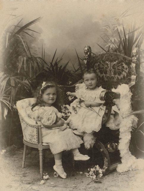 Grand Duchesses Olga & Tatiana.1898 .