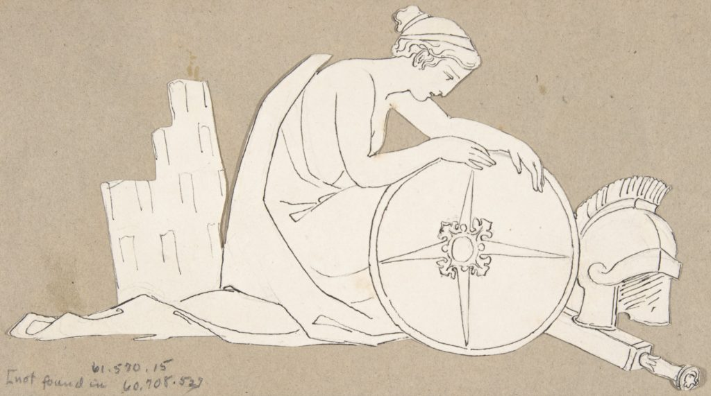 Design for large fireplace white tiles produced in Wedgwood's factory