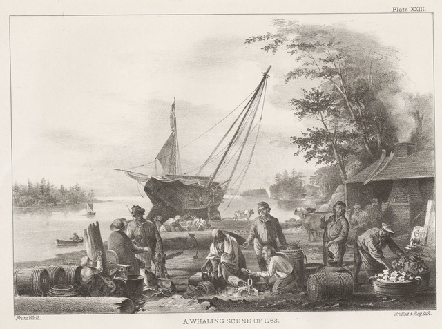 A whaling scene of 1763