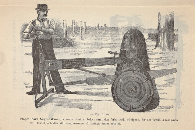 Hopfällbara sågmaskinen