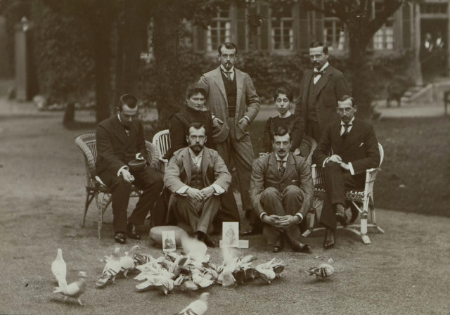 Emperor Nicholas II and Empress Alexandra Feodorovna visiting relatives in Germany. Castle Wolfsgarten, October 1899.