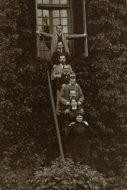 Emperor Nicholas II and Empress Alexandra Feodorovna visiting relatives in Germany. Castle Wolfsgarten, October 1899.