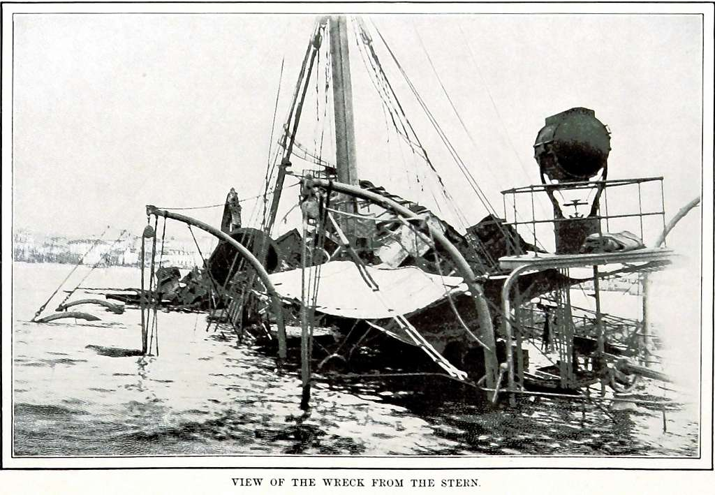 Maine view of the wreck