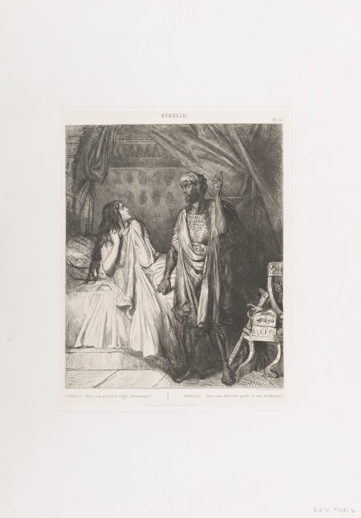 """""""Have you pray'd tonight, Dedesmona?"""": plate 12 from Othello (Act 5, Scene 2)"""
