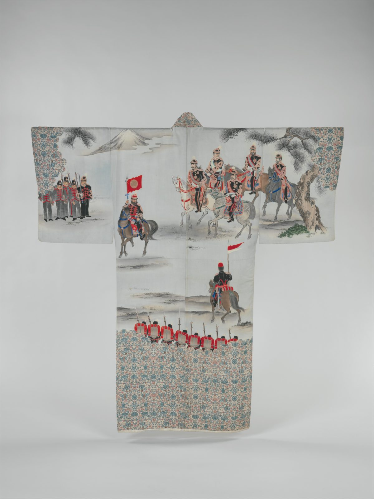 Man's Under-Kimono (Nagajuban) with Scene of the Russo-Japanese War featuring General Nogi