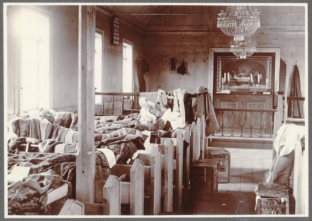 A camp in church. - Hruni.