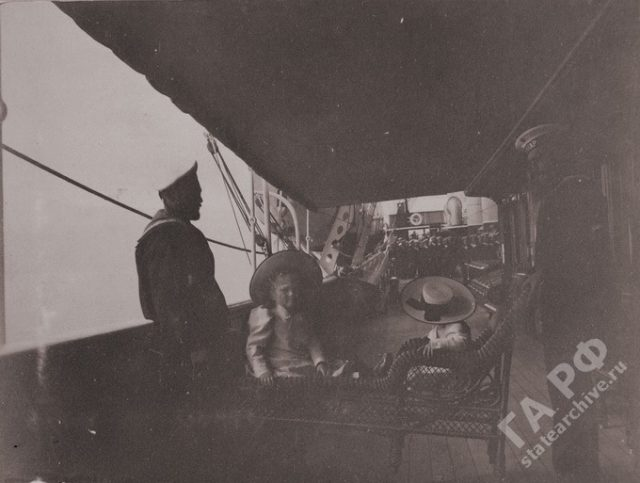 Amateur photos from the album of the royal family of Nicholas II. In traveling on Imperial yacht Standard  1899-1900.