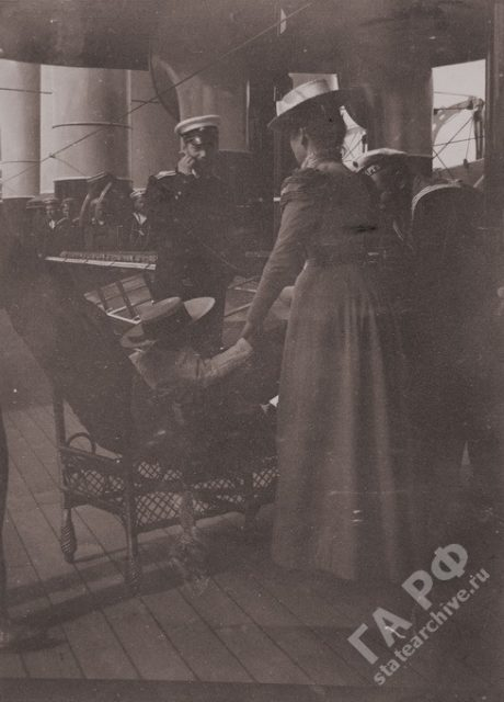 Amateur photos from the album of the royal family of Nicholas II. In traveling on a yacht the Standard 1899-1900.
