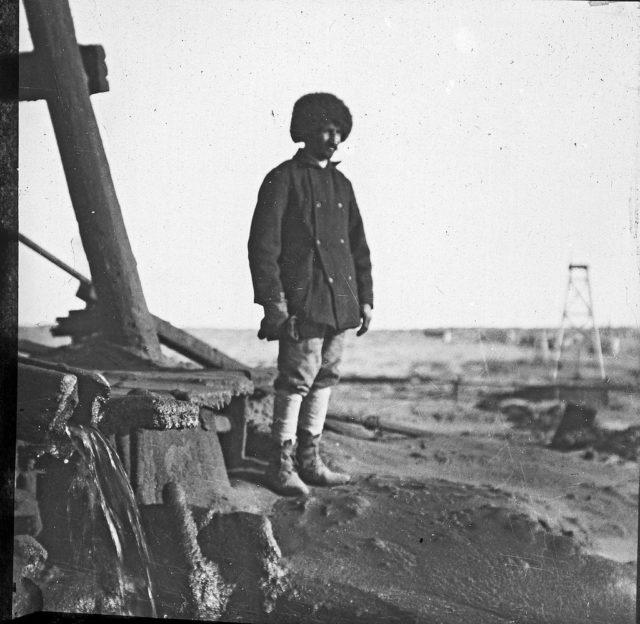 Baku. Oil field, 1900s.