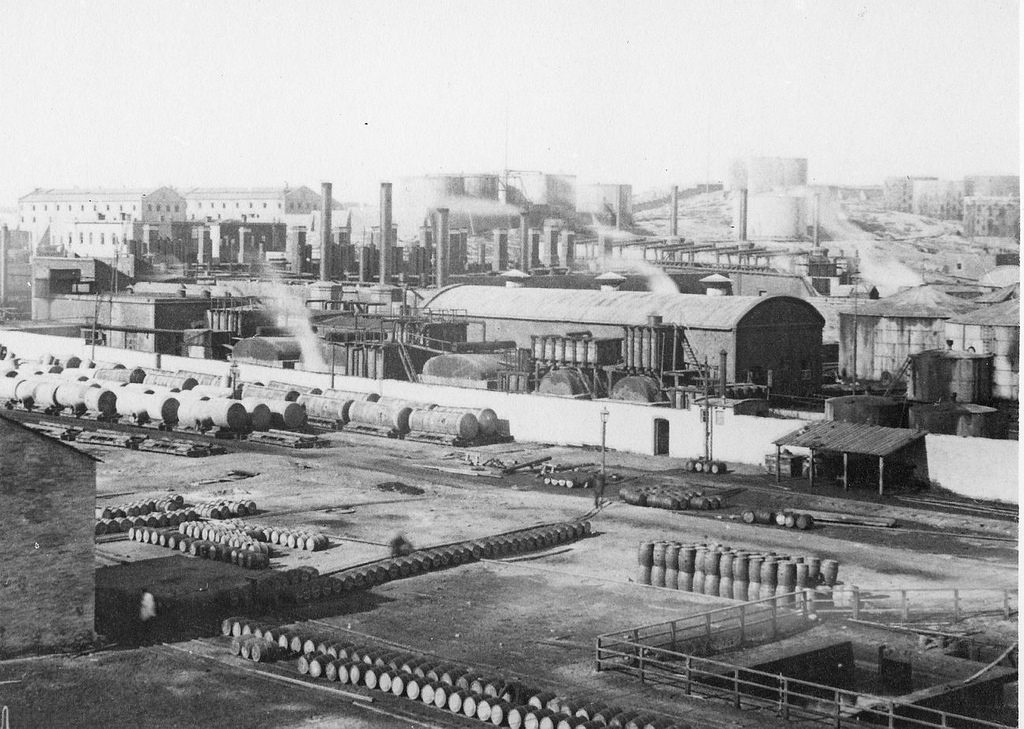 Baku oil refinery and railway oil terminal.