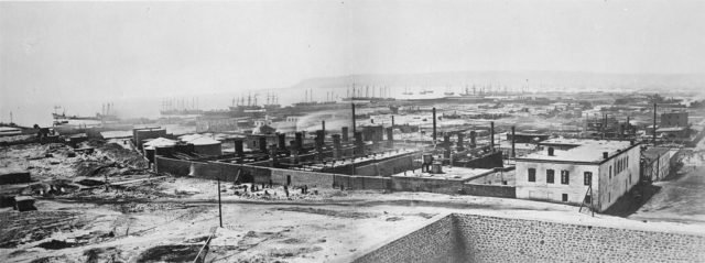 Baku oil refinery and oil terminal.