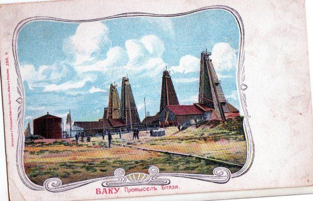 Baku, Oilfield in Blazy.
