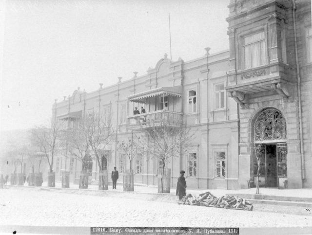 Baku. The facade of the house of Zubalov's heirs.
