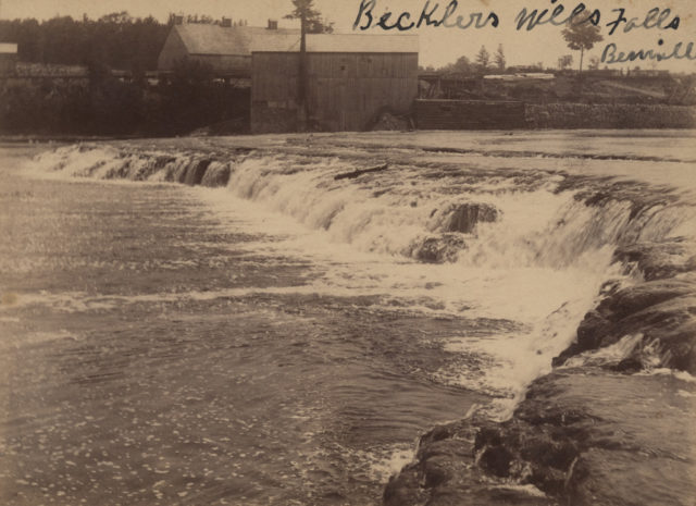 Becklers Mills Falls, Benmiller, date unknown