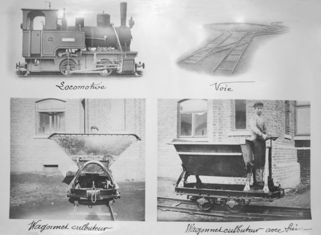 Locomotive and vagonettes - Building fortifications in Brest-Litovsk, WWI