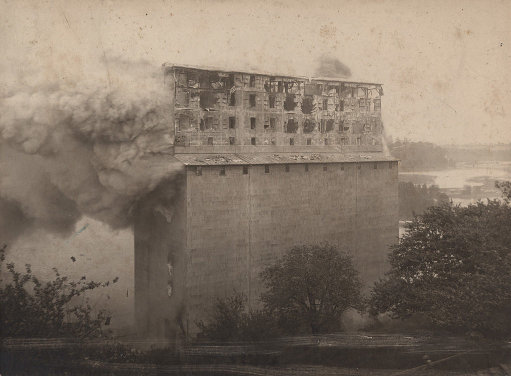 Building on fire, date unknown