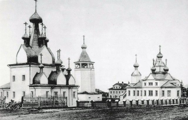 Nativity of the Blessed Virgin Church, and Cathedral of the Epiphany - Mezen of Arkhangelsk Gubernia