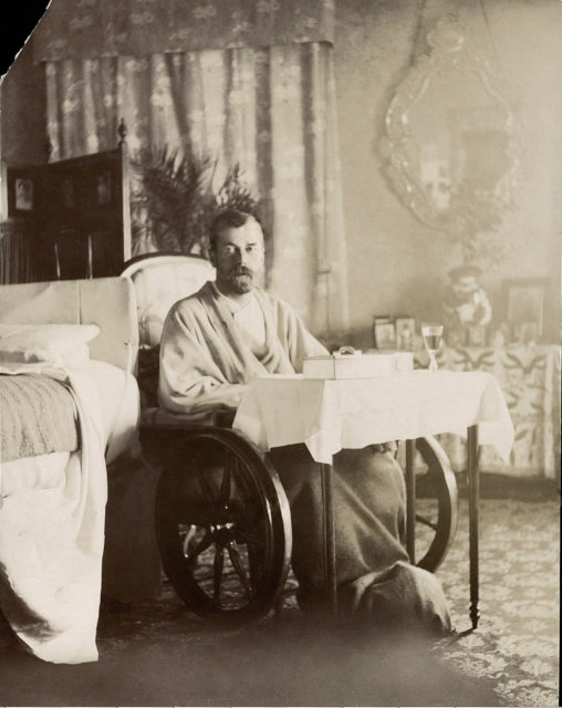 Emperor Nicholas II during a typhoid fever. Livadia, 1900