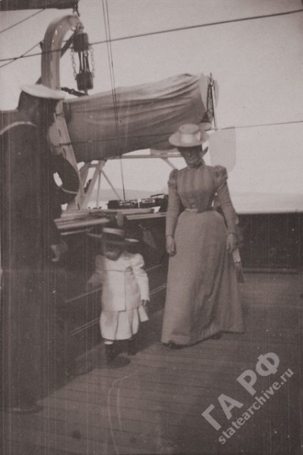 Family of Nicholas II. In traveling on a Imperial yacht Standard 1899-1900.