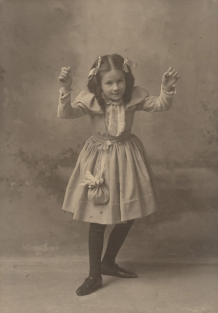 Floe Sallows Saunders dancing, date unknown