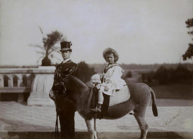 Grand Duchess Tatiana Nicholaevna on a pony