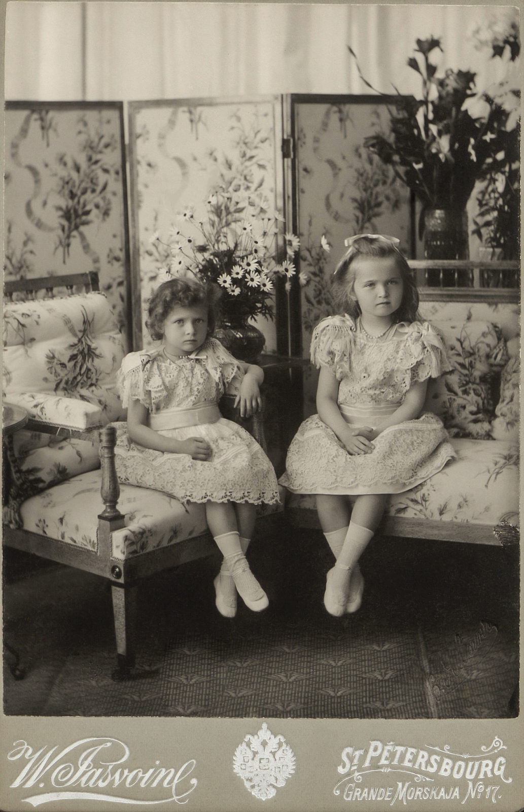 Grand Duchesses Tatiana and Olga. 1900.