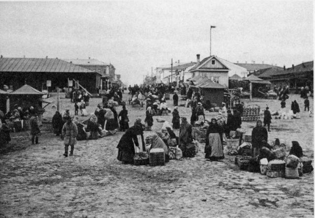 Jewish Market. Arkhangelsk (Archangel)