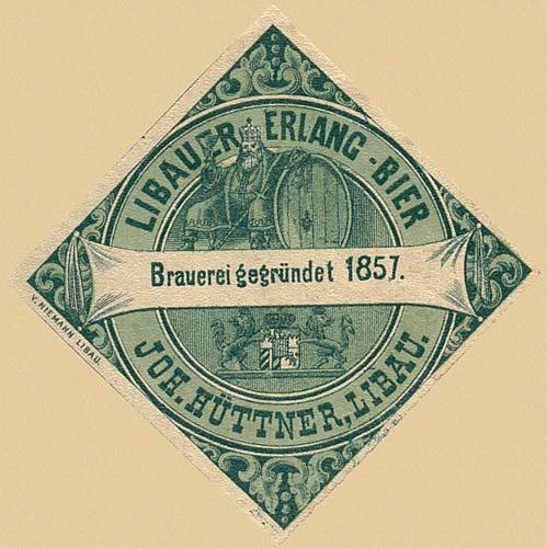 Libau. Russian beer label - 1900