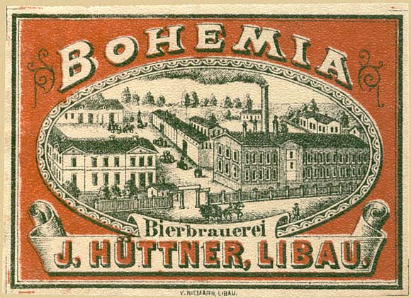 Libau. Russian beer label - 1900