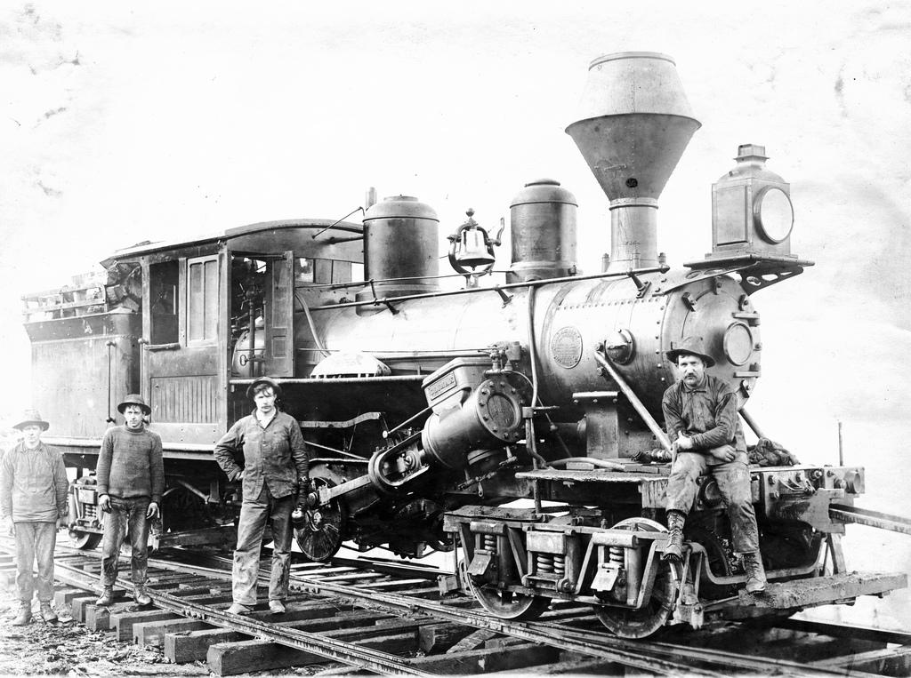 Logging railroad locomotive engine