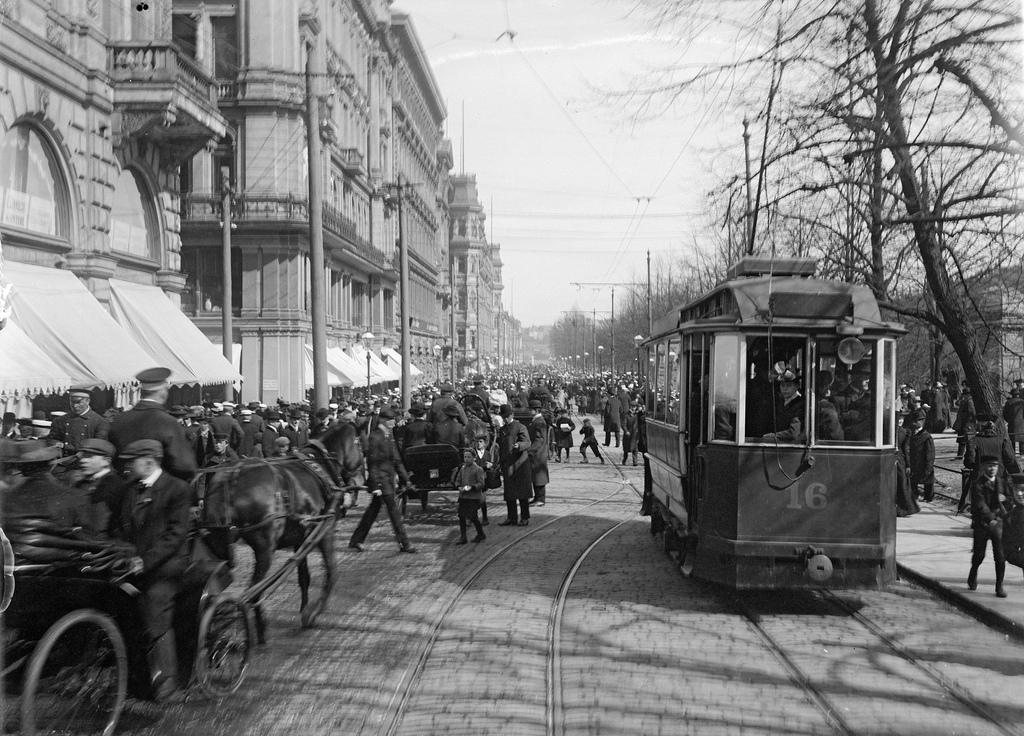 May Day celebrations in Helsinki